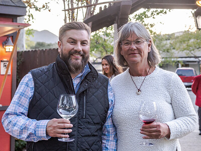 Barbara Satterfield (Santa Rita Hills Wine Alliance) with Alex Neal