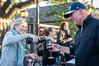 RaeLynn Zenzius of Kalyra Winery, sharing the Kalyra story and wine at the Sideways Fest held at Solvang Festival Theater