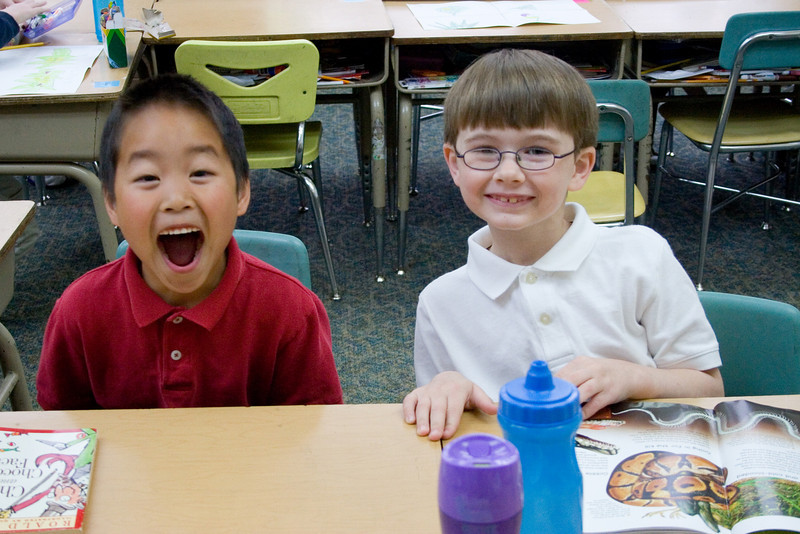 4-28-10 Week in the Life: Ethan and Zach with new seating assignments!