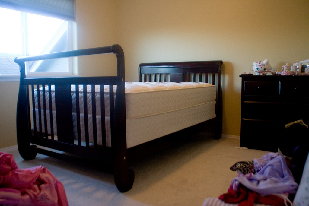 crib, toddler bed, to full size bed (sold to get a twin bed for Isabella)