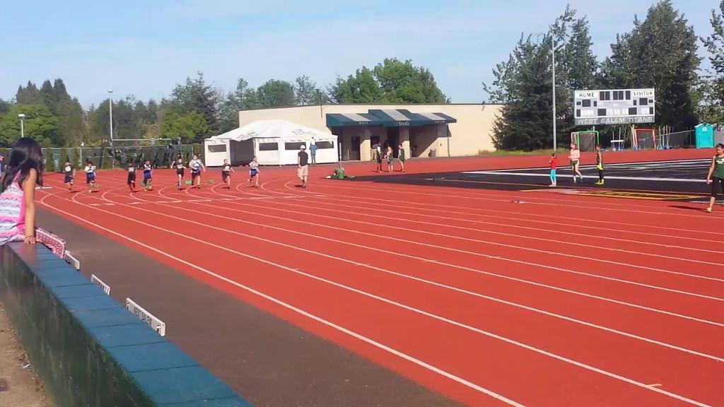 5.7.15 100m race. He won his heat!