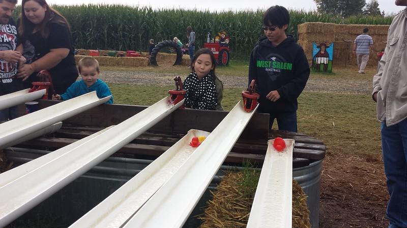 10.24.15<br /> EZ Orchards Pumpkin Patch<br /> duck racing