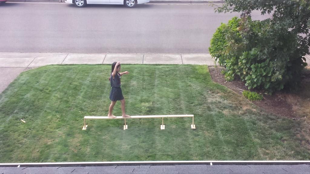 9.5.15 dad made a homemade balance beam