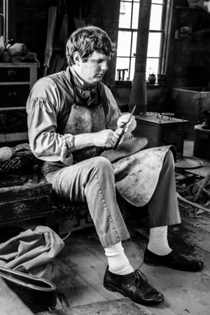 The Cobbler at Old Sturbridge Village.