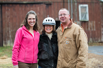 Jolene with Jen and Paulie at the Painted Pony horseback riding stables.