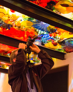 Alex putting his camera to good use at Chihuly's Persian Ceiling...