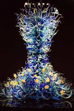 Chihuly's Tower in the Sealife Room
