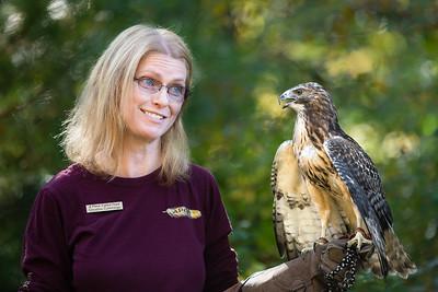 Christine interacting with a Hybrid Hawk
