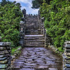 Gillette Castles Stone Stairway in Haddam, CT