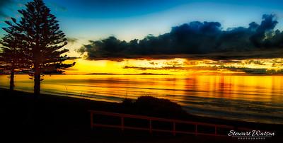 South Island sunset from Raumati