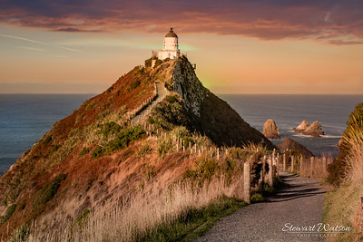 Nugget Point Lighthouse sunset