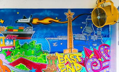 Mural with Fan