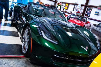 Corvette british racing green-5758