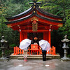 12-1-2013 Umbrellas at Hakone Shrine