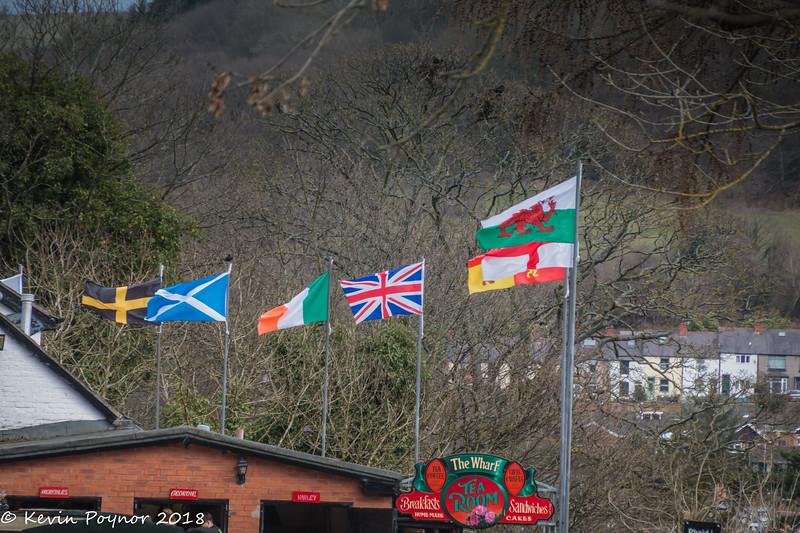 14-Jun-18 Flags at Llangollen Canal