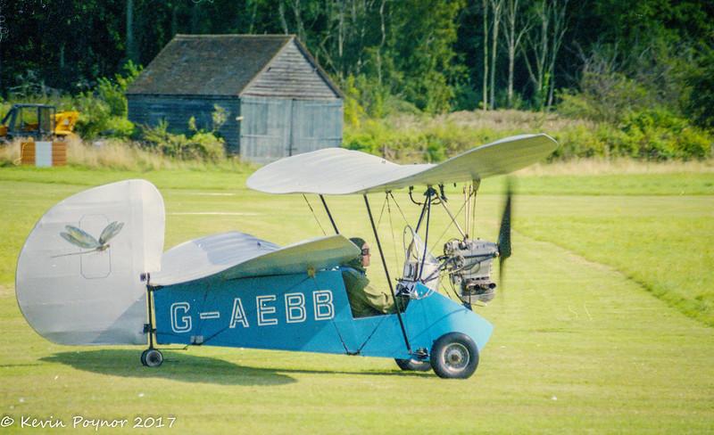 20-Jan-17 G-AEBB Mignet HM.14 Pou-du-Ciel, preparing for take off at Old Warden.