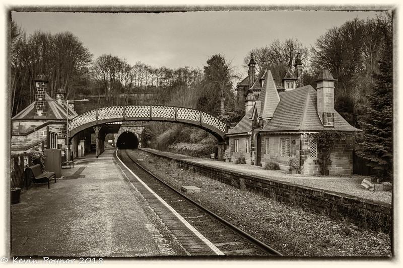 8-Feb-18 Cromford Railway Station, Derbyshire.