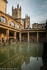 22-Dec-19 The Roman Baths with Bath Abbey in the background.