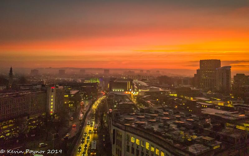 6-Dec-19 Sunrise from the 15th Floor.