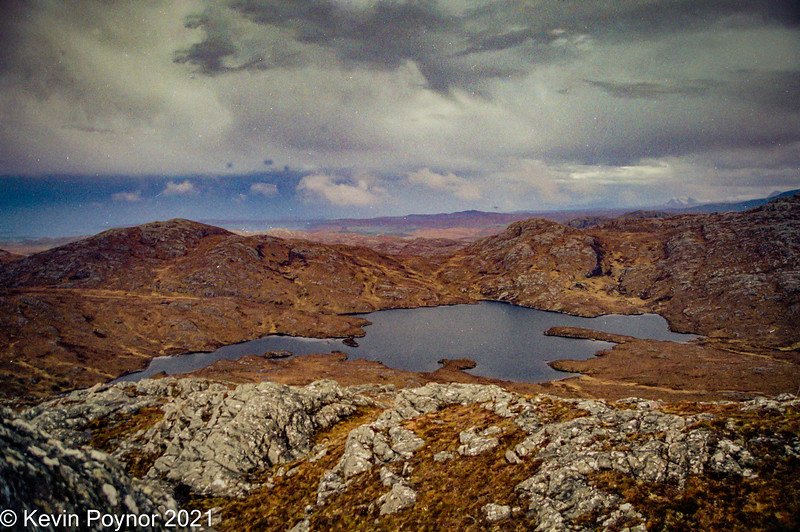 19-Mar-21 Loch Àirigh A' Phuill from the summit of An Groban, Wester Ross