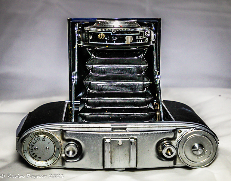 17-Feb=21 1950's Agfa Isolette folding camera.