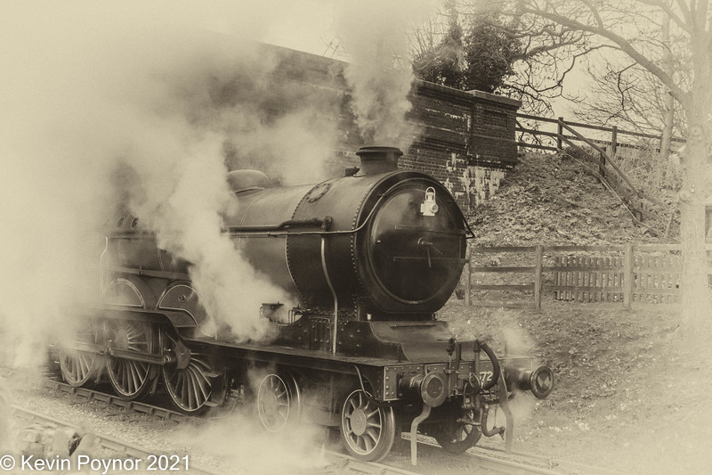 1-Feb-21 LNER B12 Class No. 8572 Departing Weybourne, Norfolk.