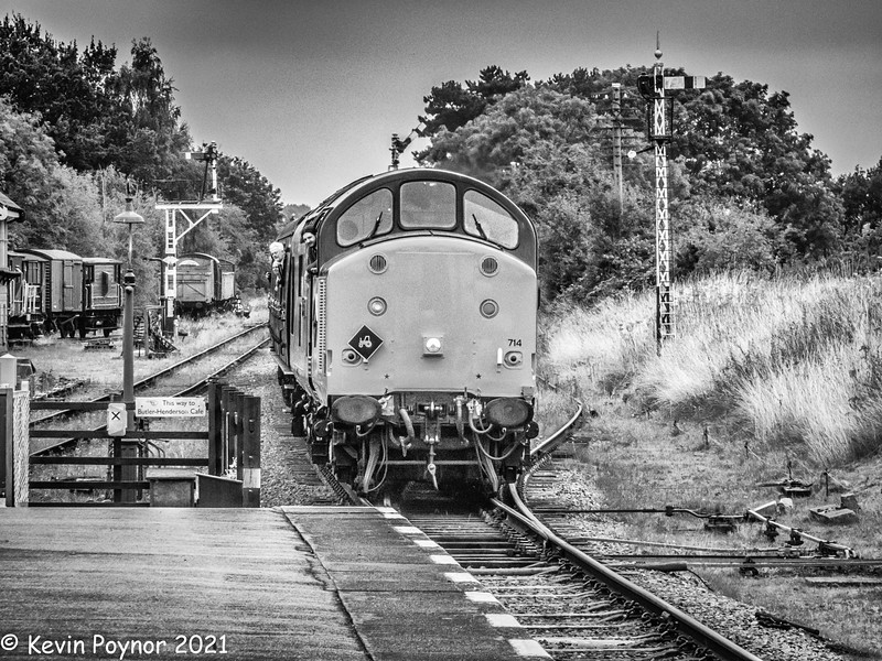 8-Oct-21 On Approach to Rothley Station - English Electric Type 3 Diesel No. 37714