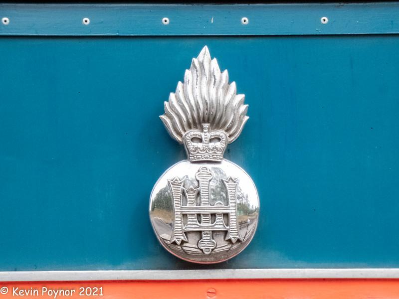 "5-Oct-21 Crest on locomotive D9019 ""Royal Highland Fusilier"""