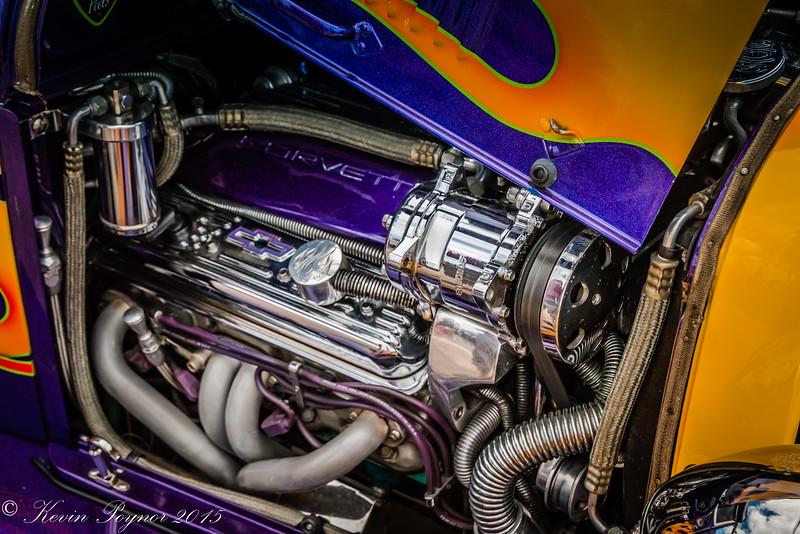 15-Jun-15 - Corvette Engine in Hot Rod.