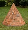 "28-Jul-13<br /> <br /> For Donna's Sunday Alphabet challenge - C for Conical.<br /> <br />  Sculpture ""Brick Buoy"" by William Pye. Leicester University Botanic Gardens."