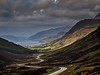 10-Oct-12  Looking down Glen Docherty towards Loch Maree, Wester Ross, Scotland
