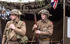 13-Sep-12<br /> <br /> Ready for battle?<br /> <br /> Two members of the Tommy Atkin's WWII Re-enactment group preparing for a mock battle at Moira Canal Festival May 2012