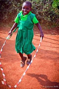 Kenyan Student at Recess