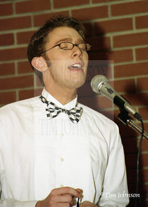 Clay Aiken Warms Up Before A Wedding In His Pre-Idol Days. He is still golden.