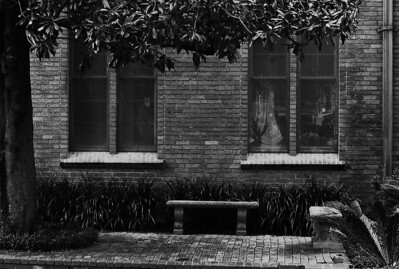 Benches by the windows