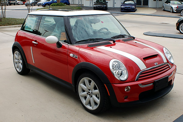 Mini Cooper S just arrived at dealer.  Ready for pickup tomorrow at noon.