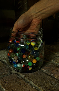 grabbing marbles