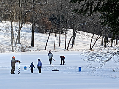 Ice Fishing at Blue Spruce Park