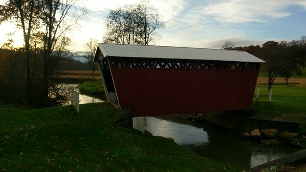 November Sunset at Trusal Covered Bridge