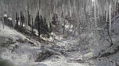 Winter Scene at Buttermilk Falls