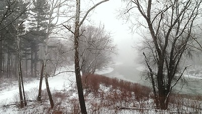 Snow Squall at the Blairsville Riverfront Trail