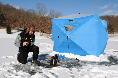 Ice Fishing at Blue Spruce Lake