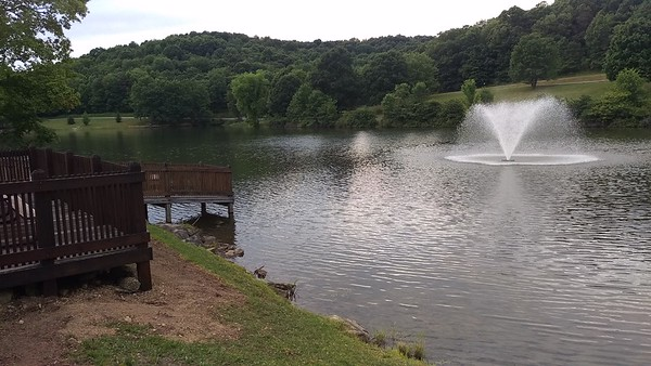 Blue Spruce Lakeside Center Fountain
