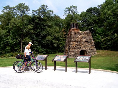 Stopping at the Eliza Furnace on the Ghost Town Trail