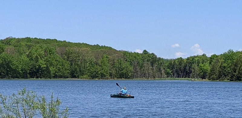 Hemlock Lake Kayaker