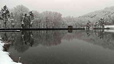 An Early March Snow at Cummings Dam