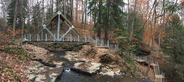 Buttermilk Falls - Eclipse Bridge