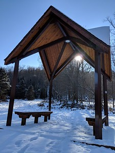 Winter Sun at Blacklick Valley Natural Area