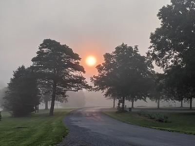 Foggy Sunrise at Blue Spruce Park