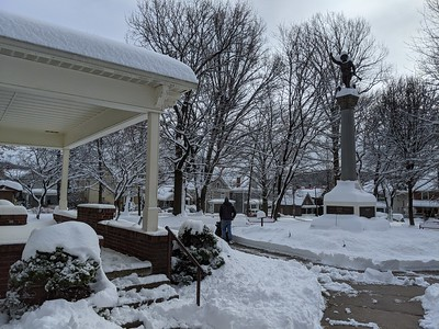 Memorial Park in Winter